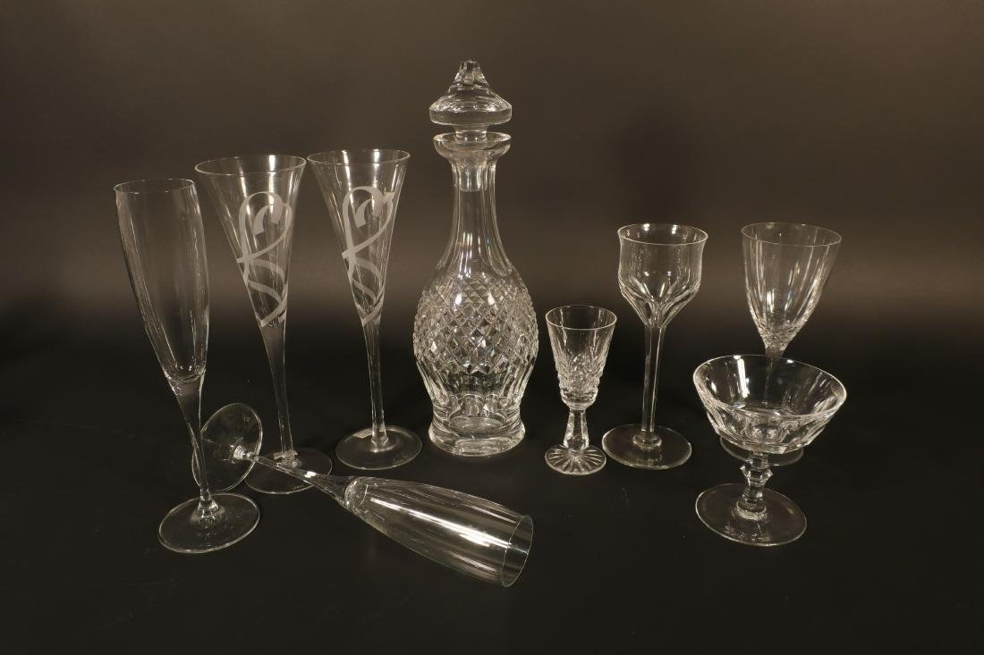 Misc. Crystal Glass: Waterford Stems et al - 3