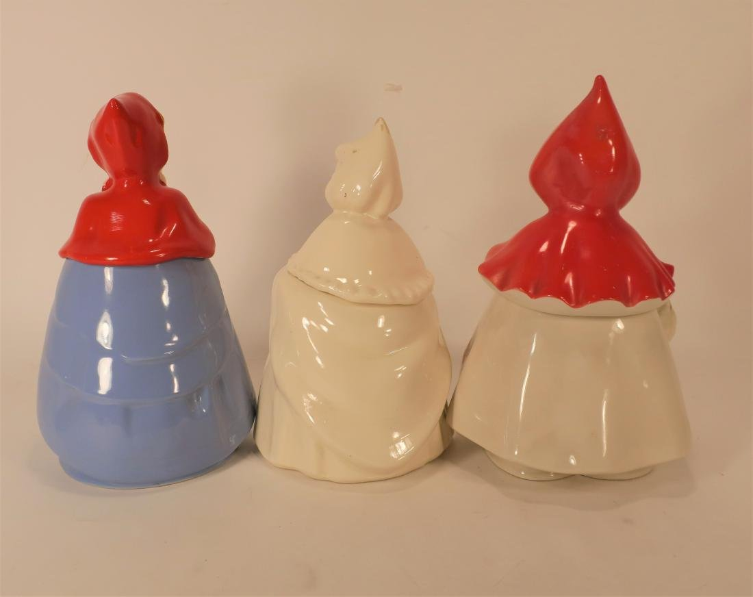 Little Red Riding Hood Three Ceramic Cookie Jars - 2