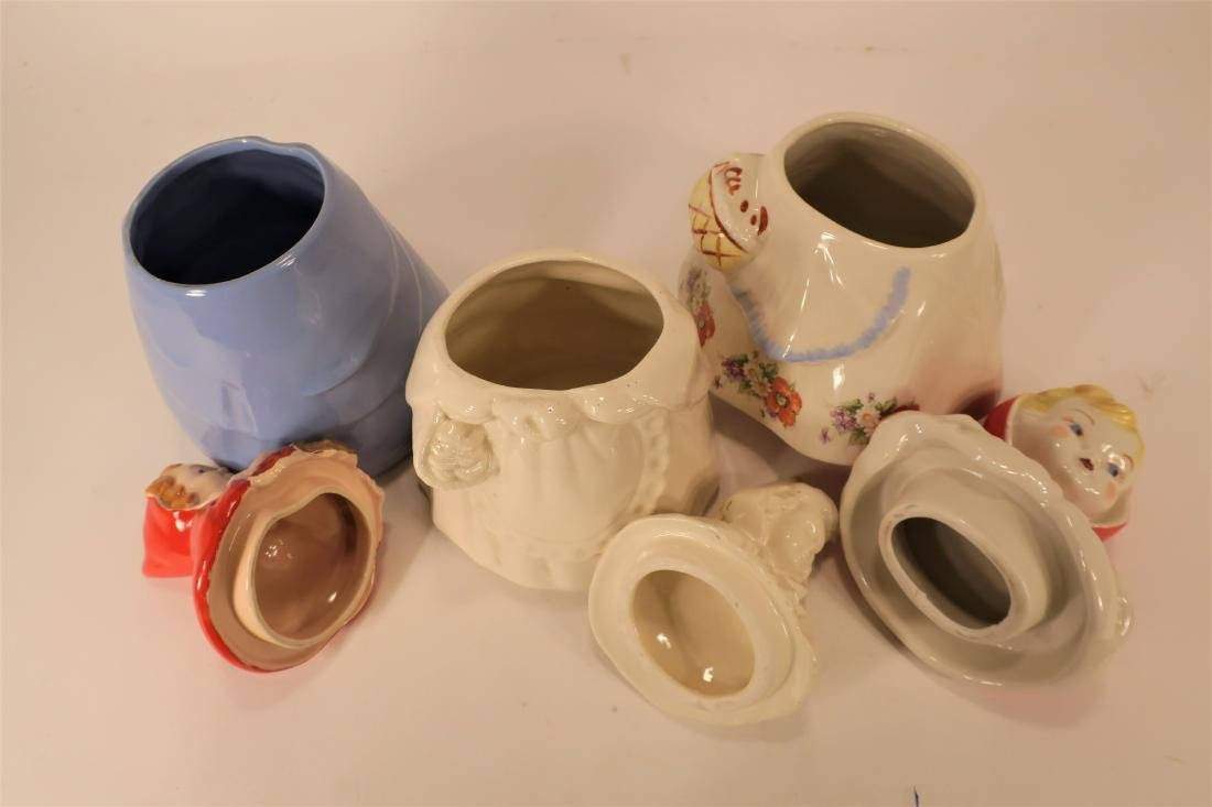 Little Red Riding Hood Three Ceramic Cookie Jars - 3