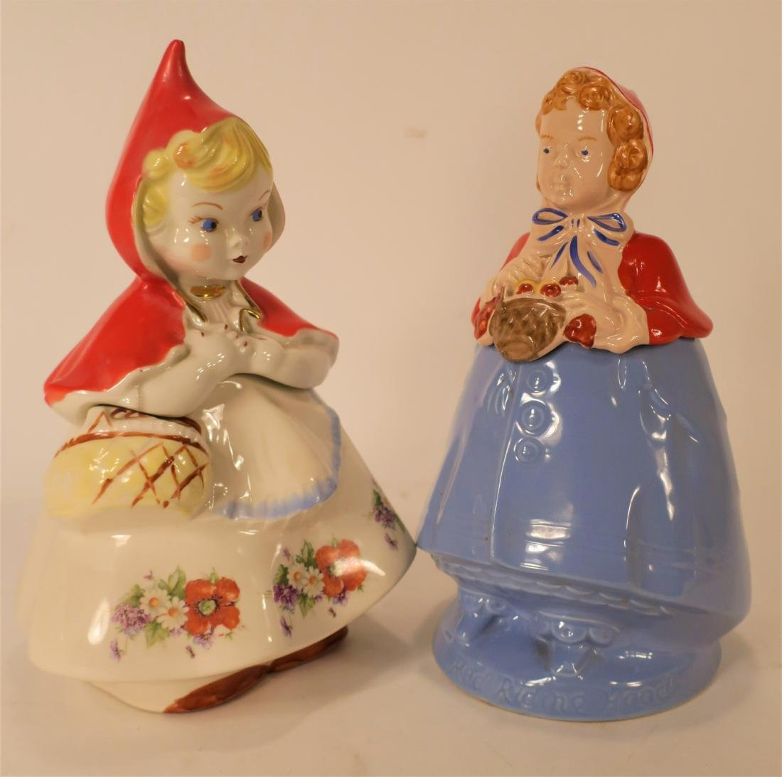 Little Red Riding Hood Three Ceramic Cookie Jars - 5