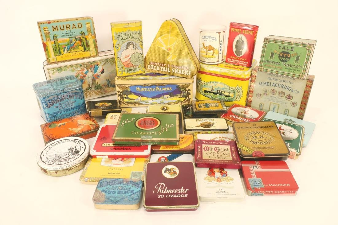 Antique/Vintage Global Tobacco/Snack Related Tins