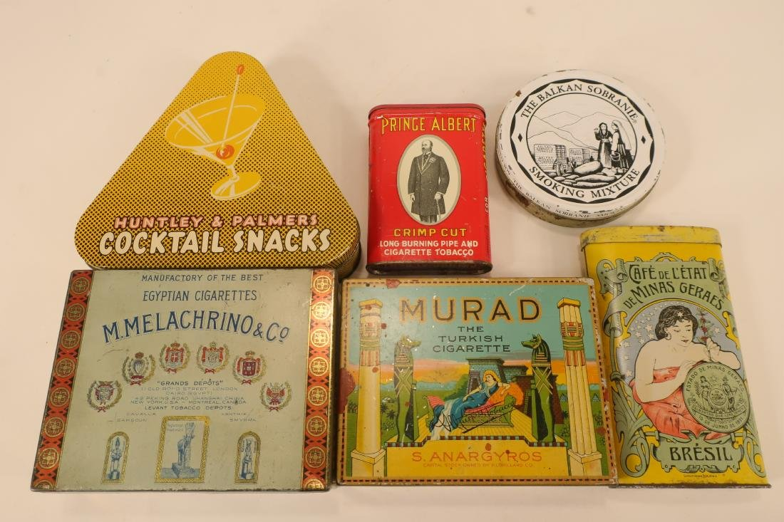 Antique/Vintage Global Tobacco/Snack Related Tins - 4