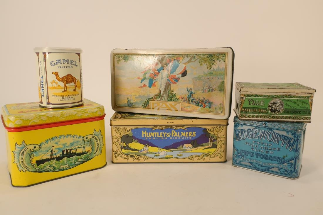 Antique/Vintage Global Tobacco/Snack Related Tins - 5