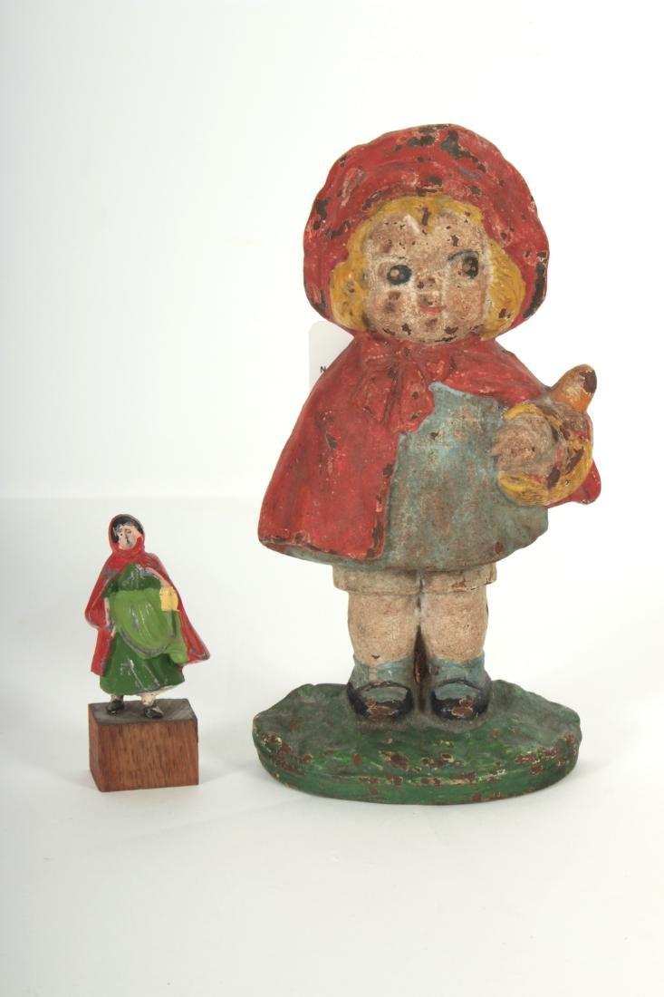 Little Red Riding Hood Iron Doorstop,Tieback Pins - 3