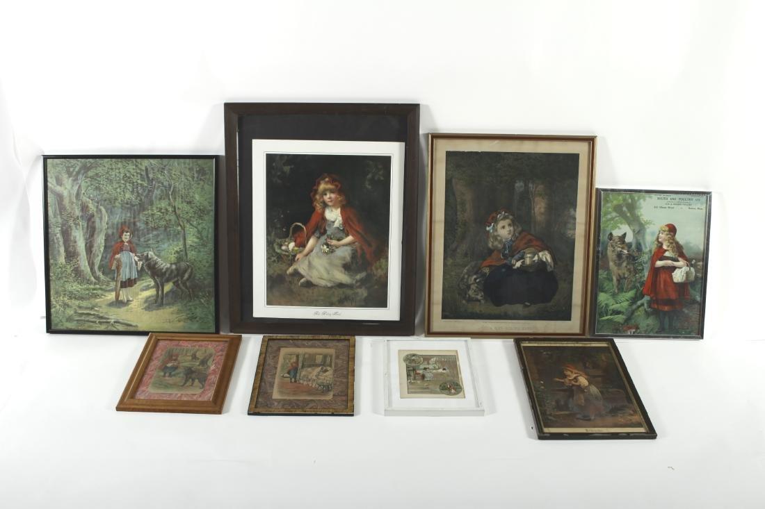 Little Red Riding Hood Vintage Framed Prints