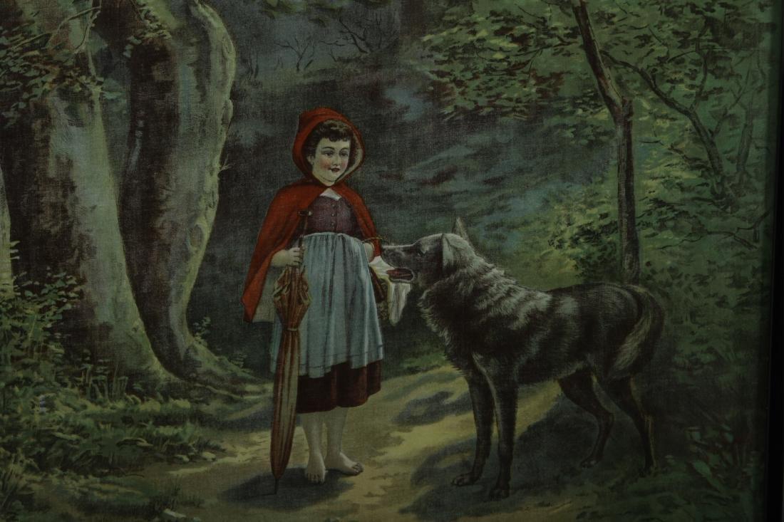 Little Red Riding Hood Vintage Framed Prints - 3