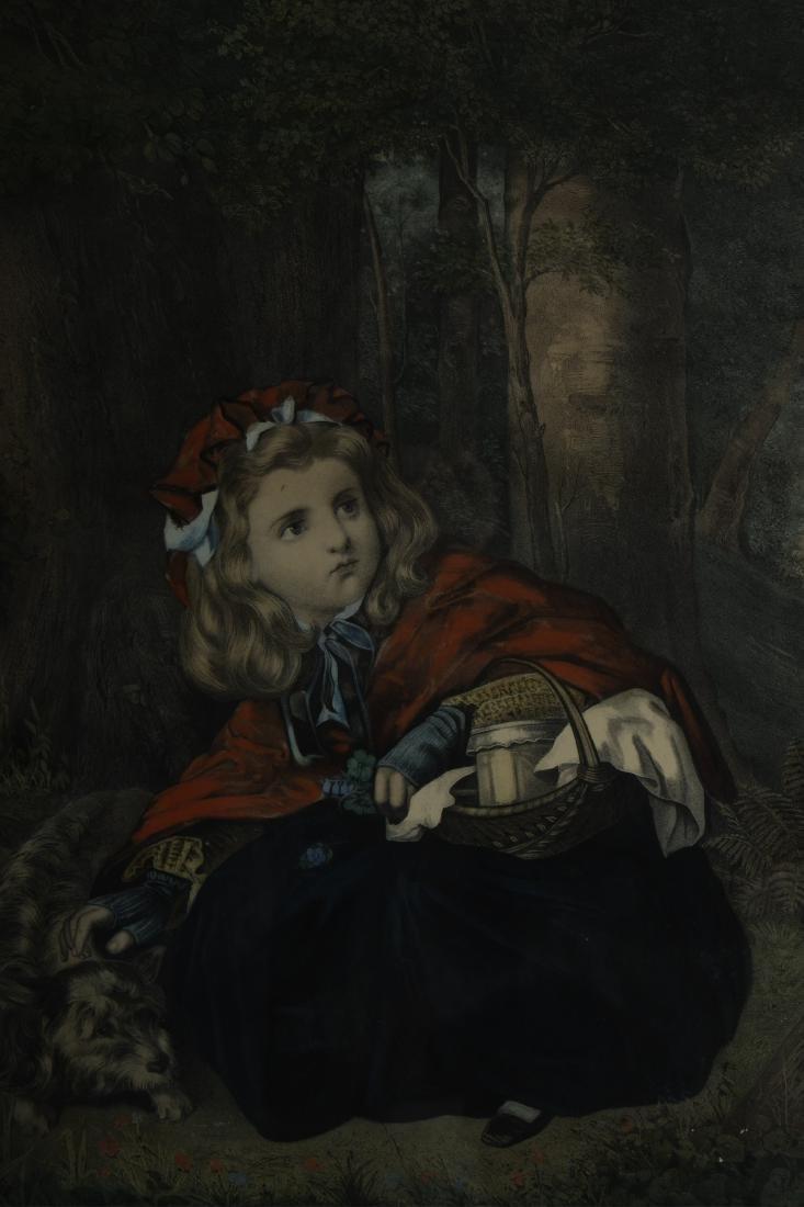Little Red Riding Hood Vintage Framed Prints - 4