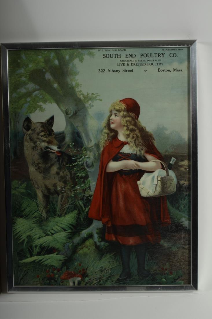 Little Red Riding Hood Vintage Framed Prints - 5