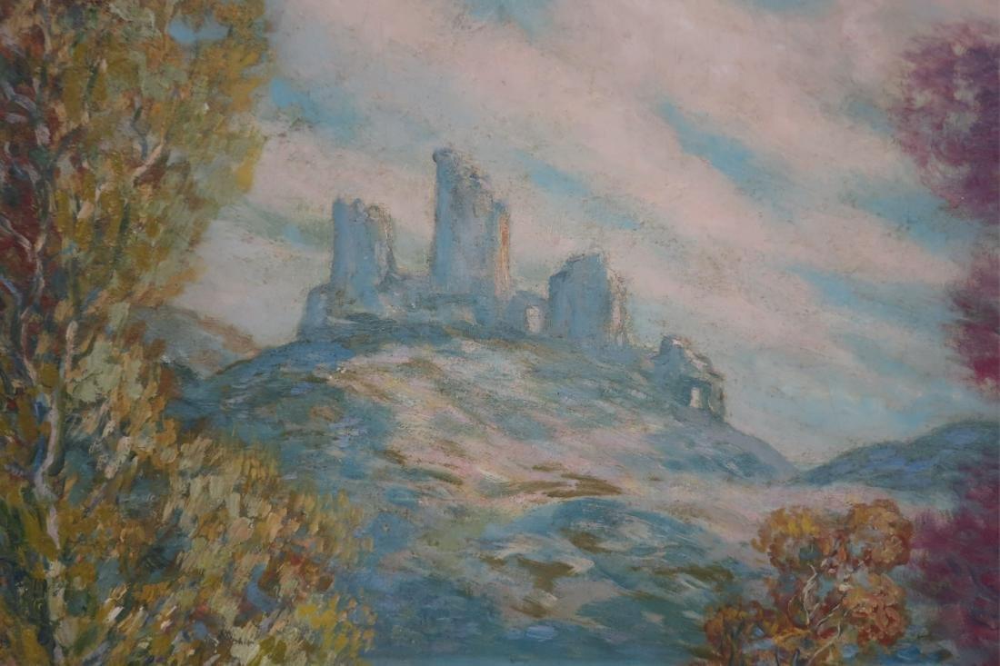 Albert G. VonStrode, River with Ruins, 1930, O/B - 2