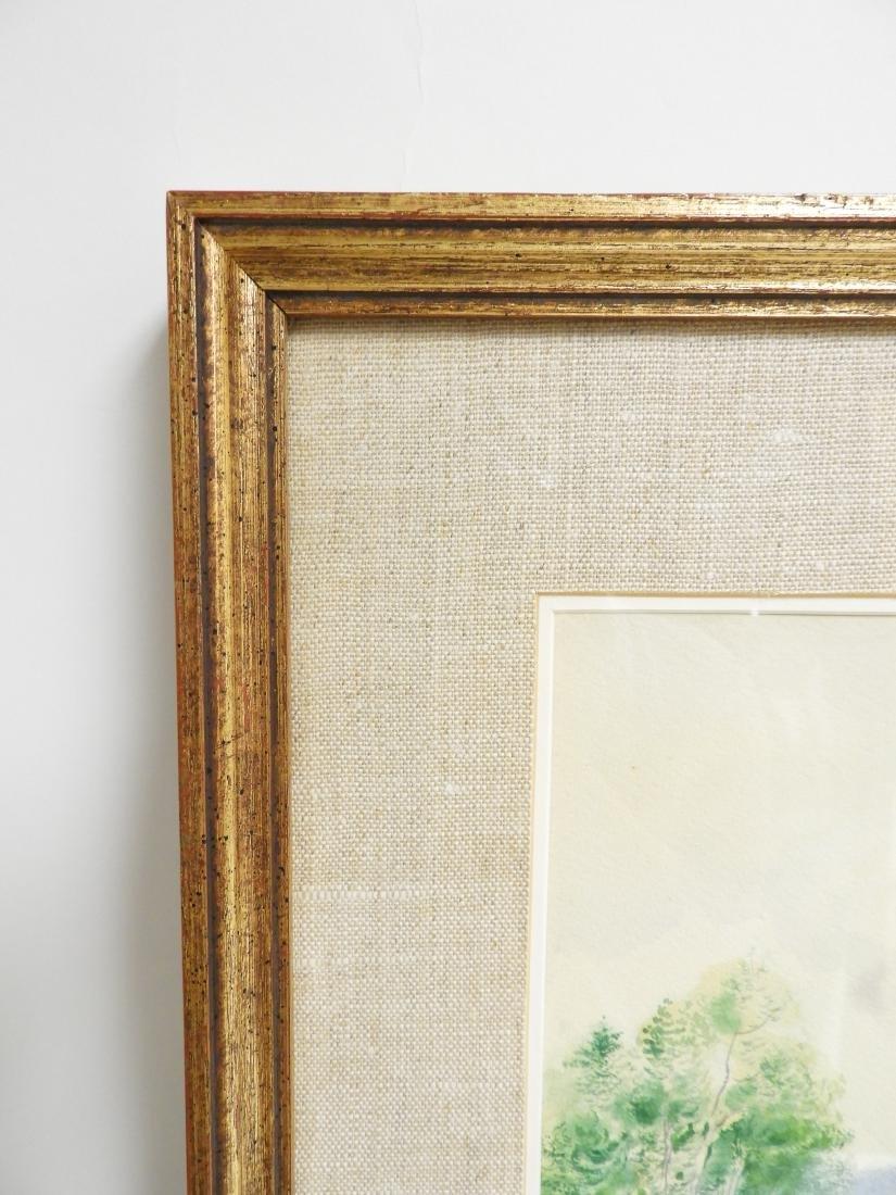 George Grosz, Ger., Lake Scene Watercolor - 6