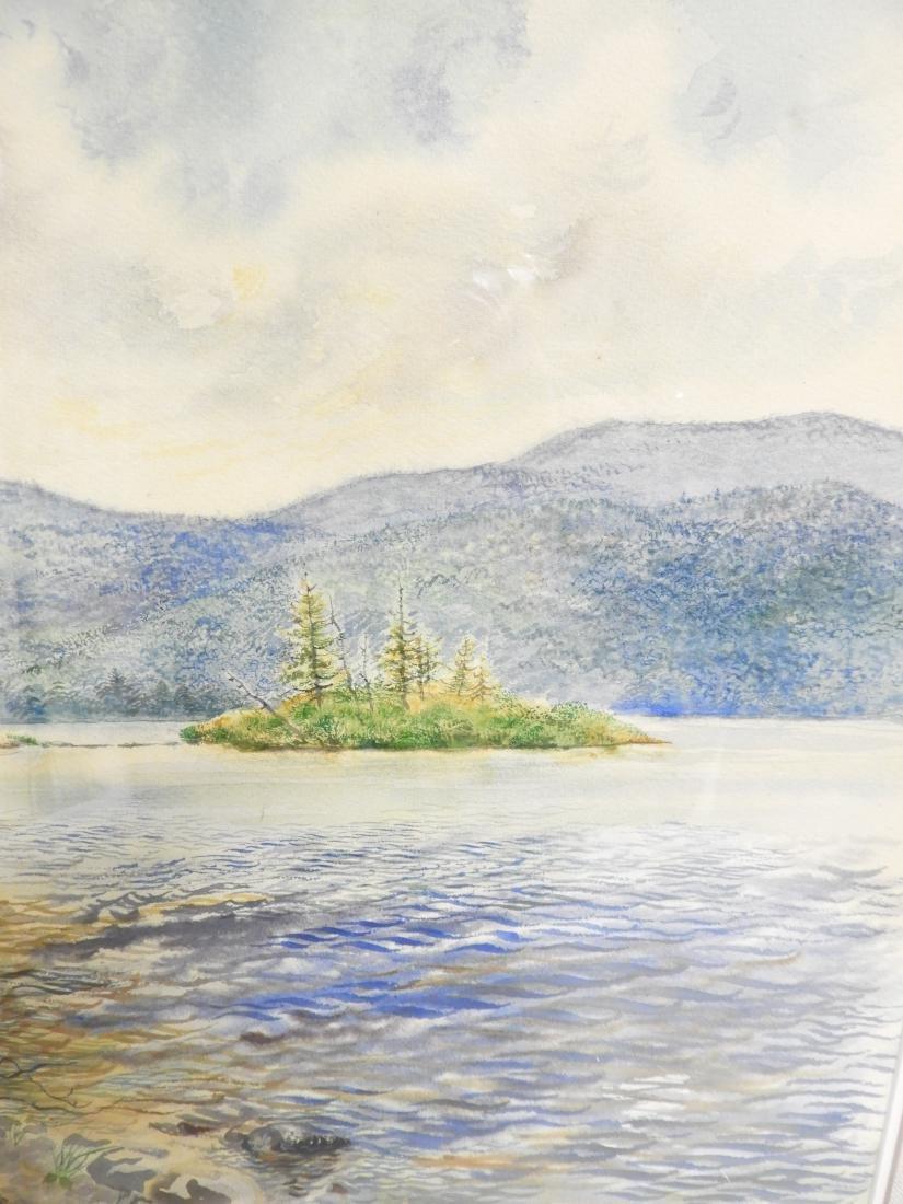 George Grosz, Ger., Lake Scene Watercolor - 7
