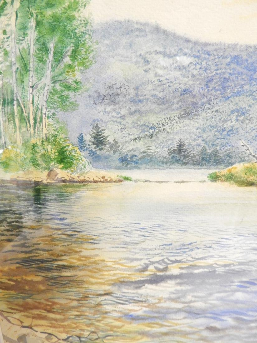George Grosz, Ger., Lake Scene Watercolor - 8