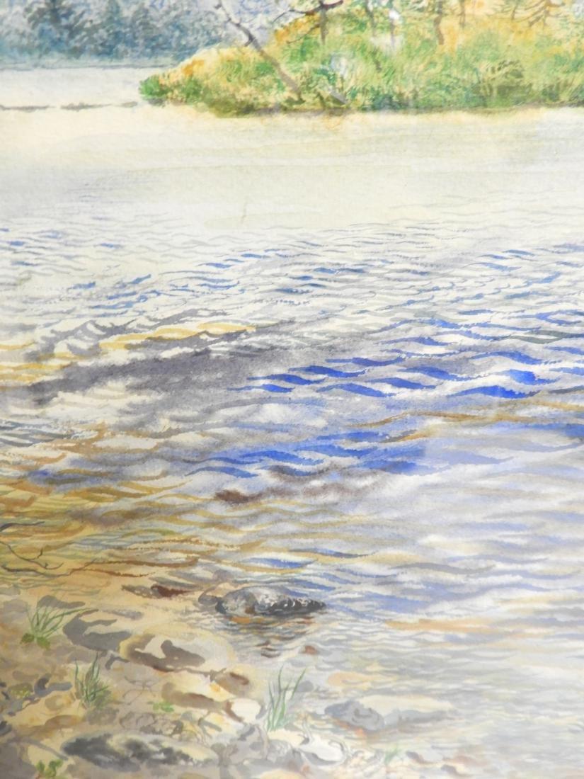 George Grosz, Ger., Lake Scene Watercolor - 9