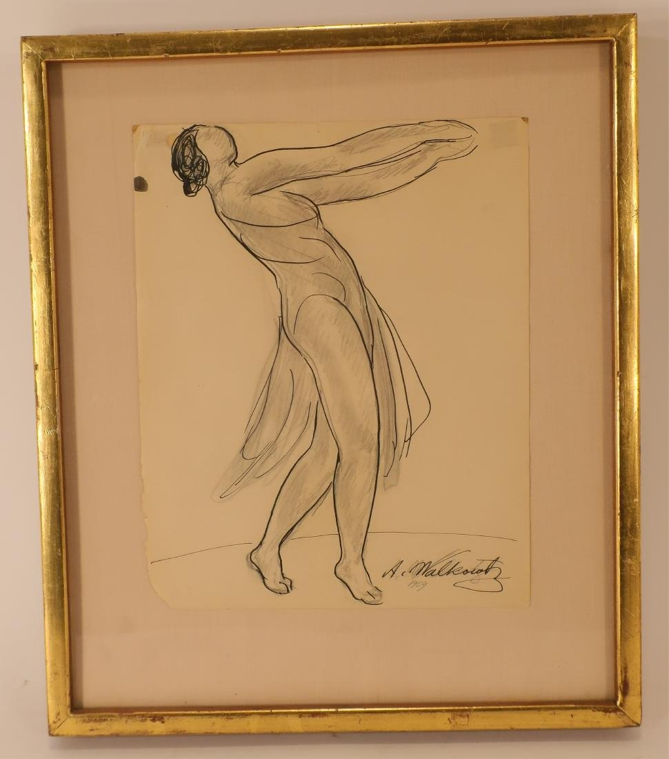 Abraham Walkowitz,Am., Isadora Duncan, pen and ink
