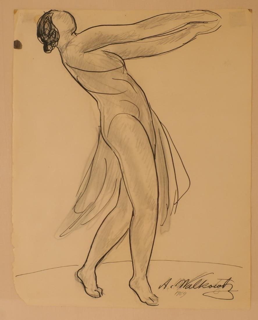 Abraham Walkowitz,Am., Isadora Duncan, pen and ink - 2