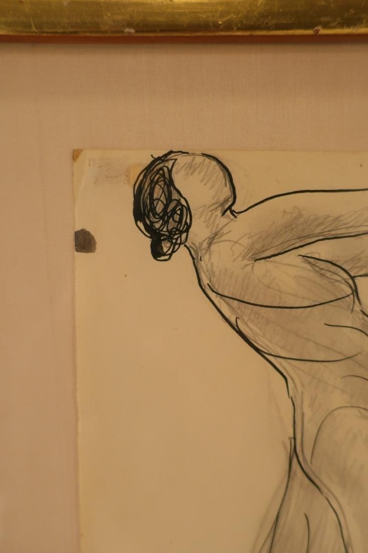 Abraham Walkowitz,Am., Isadora Duncan, pen and ink - 3