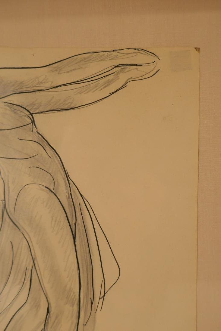 Abraham Walkowitz,Am., Isadora Duncan, pen and ink - 4