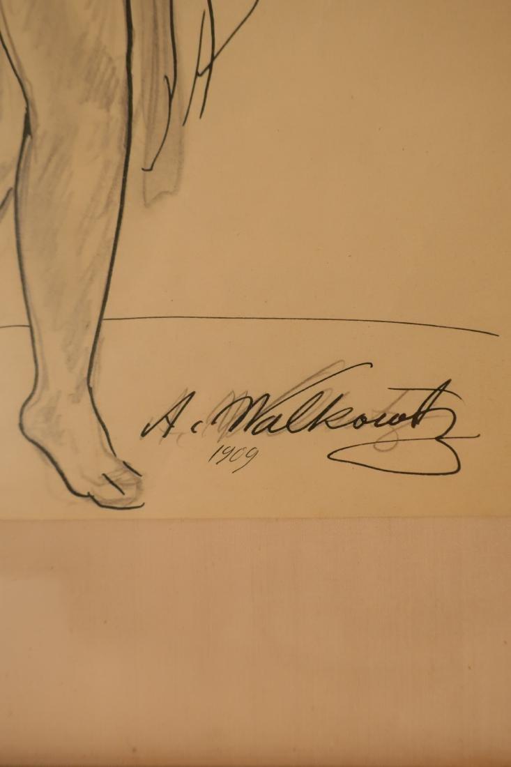 Abraham Walkowitz,Am., Isadora Duncan, pen and ink - 5