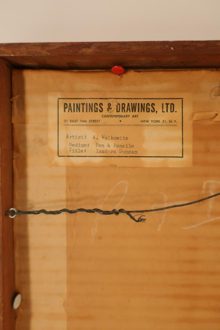 Abraham Walkowitz,Am., Isadora Duncan, pen and ink - 6