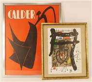 Calder and Miro 2 lithographs