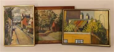 Jean Duncan, Am., 20th C., 3 Oils on Canvas