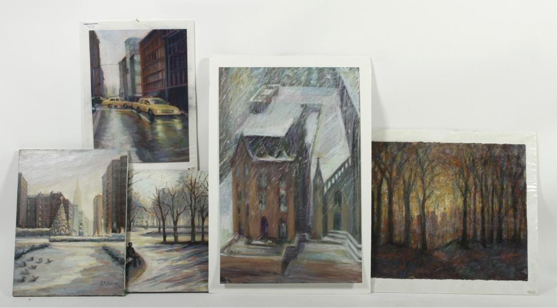 Sandra Rubel O/C and Pastel Cityscapes