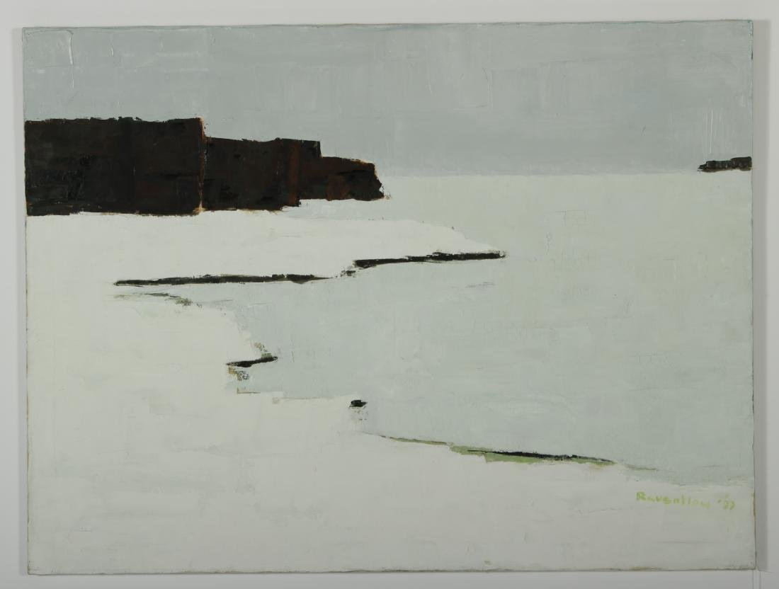 Peggy Reventlow, 1915-2014, Winter Landscape O/C