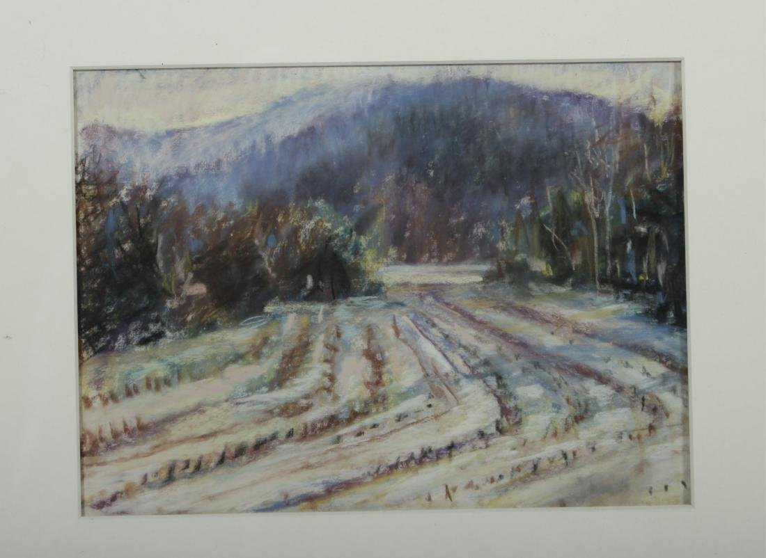 Sandra Rubel, Two Rural Landscapes, O/C & a Pastel - 2
