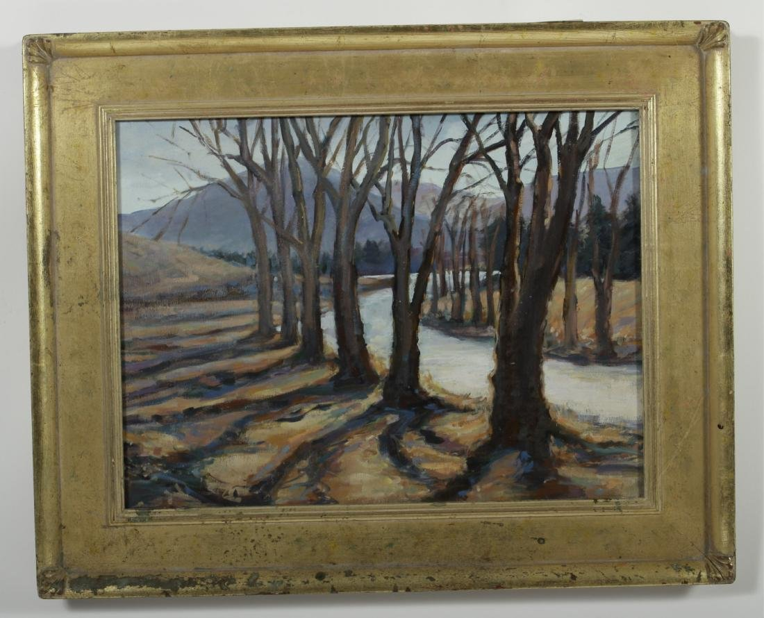 Sandra Rubel, Two Rural Landscapes, O/C & a Pastel - 3