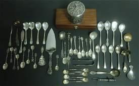 Various Siler and Silverplate Utensilsetc