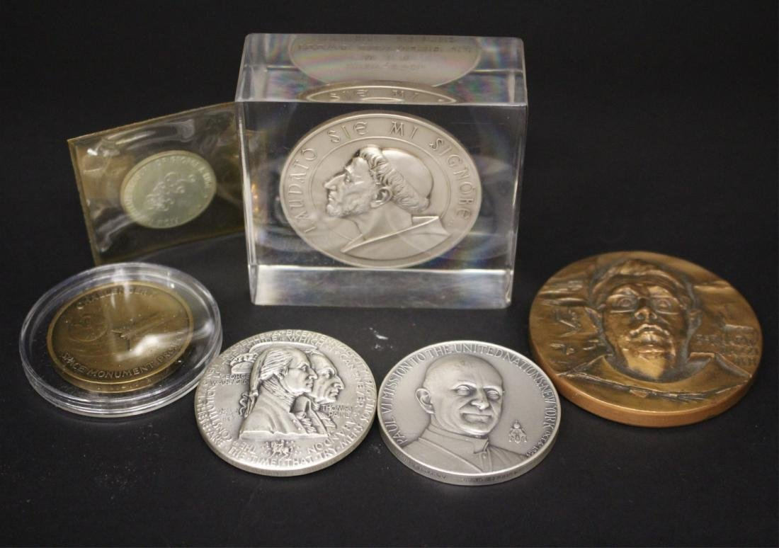 Five Medals and a Sterling Coin