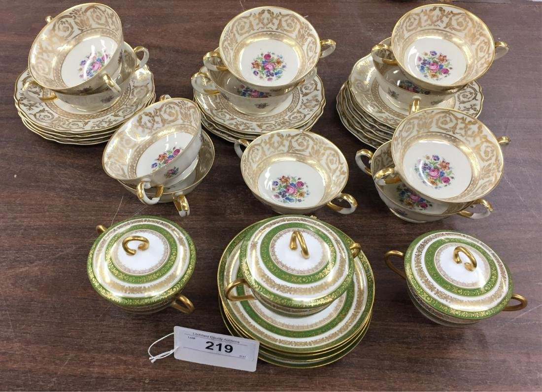 Lot of German and French Porcelain
