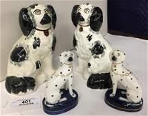 2 Pr. Staffordshire Dogs