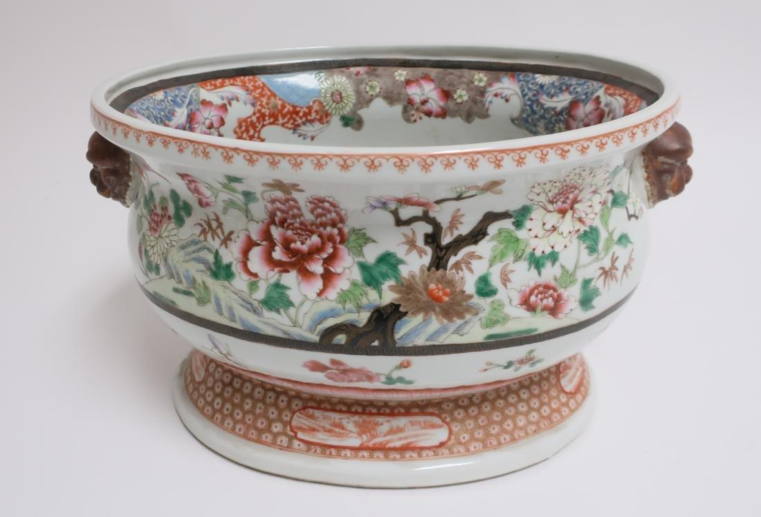 Chinese Export Style Porcelain Basin