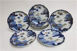 Set of 8 Japanese Imari Porcelain Plates