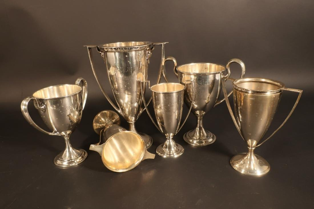 8 Sterling Inscribed Trophies incl Cartier 127 ozt - 7