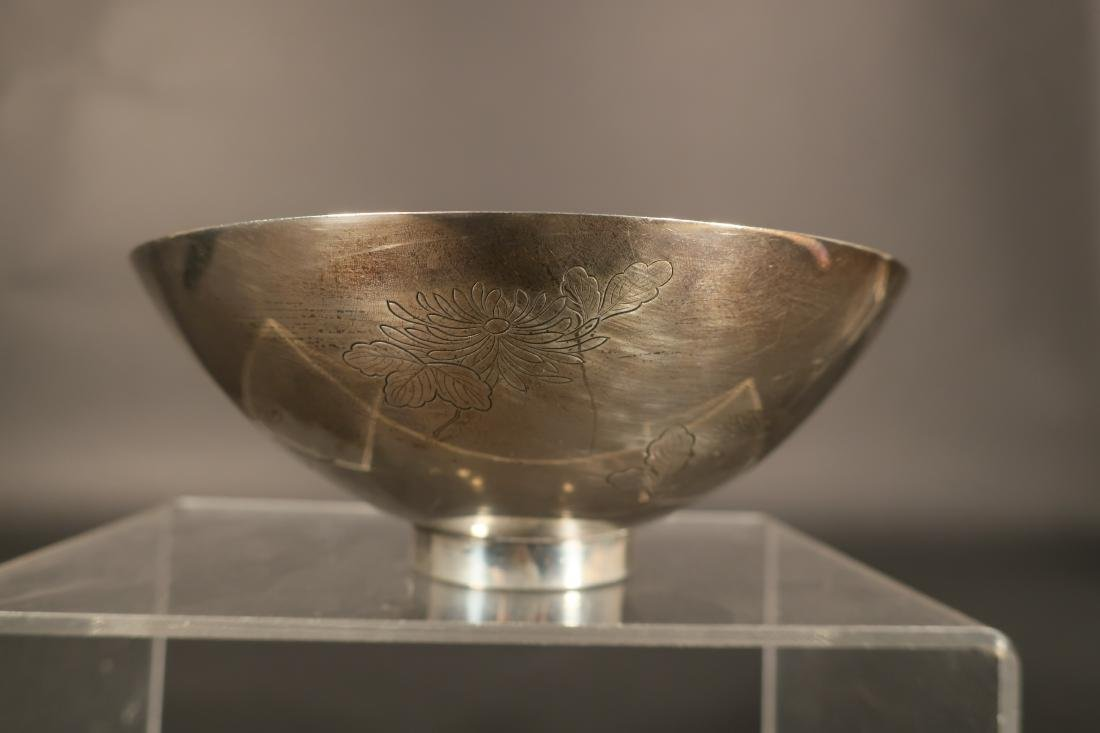 Chinese Silver Sauce Boat & Bowl - 4