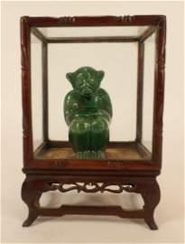 Chinese Green Glazed Monkey