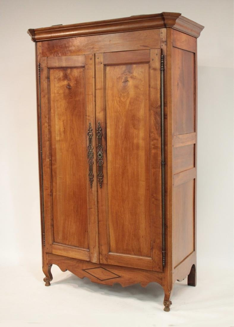 19th c. French Provincial Cherry Armoire Cabinet - 2