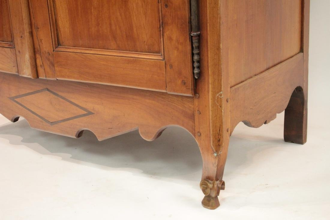 19th c. French Provincial Cherry Armoire Cabinet - 3
