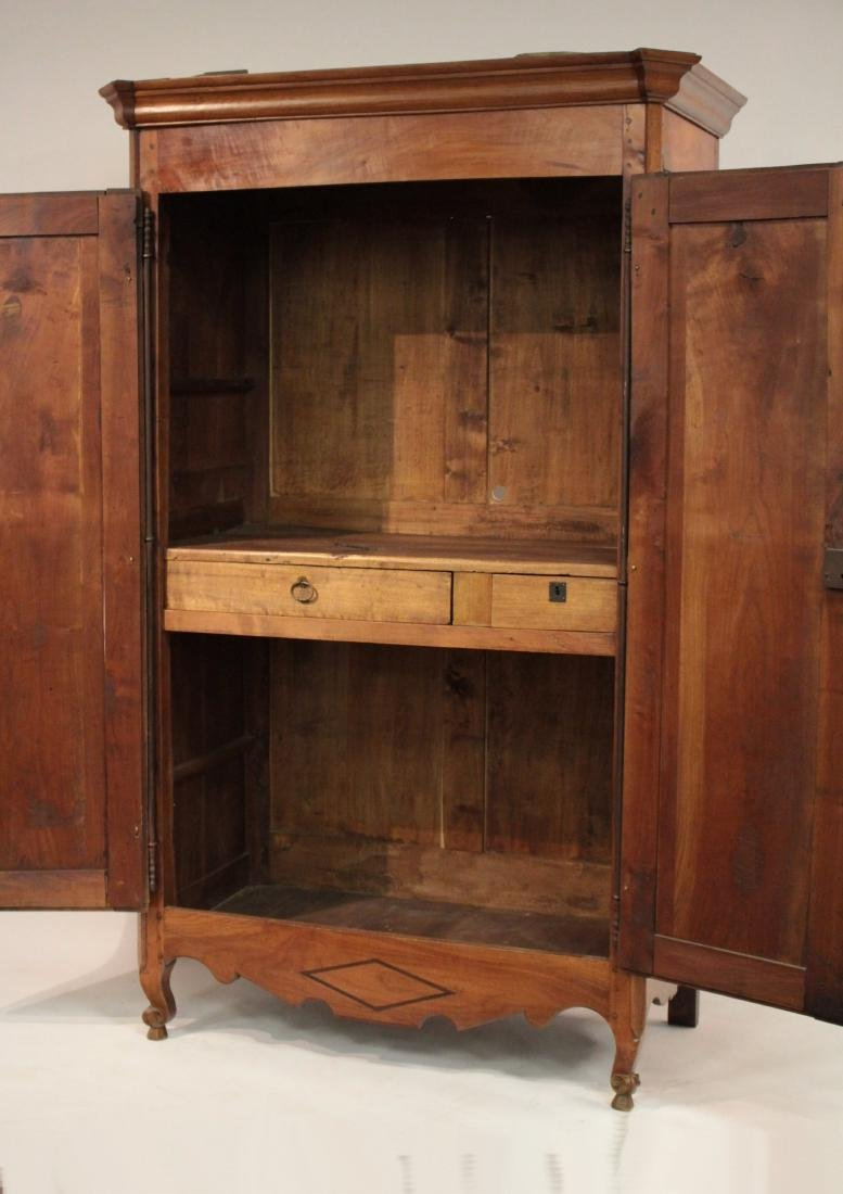 19th c. French Provincial Cherry Armoire Cabinet - 4