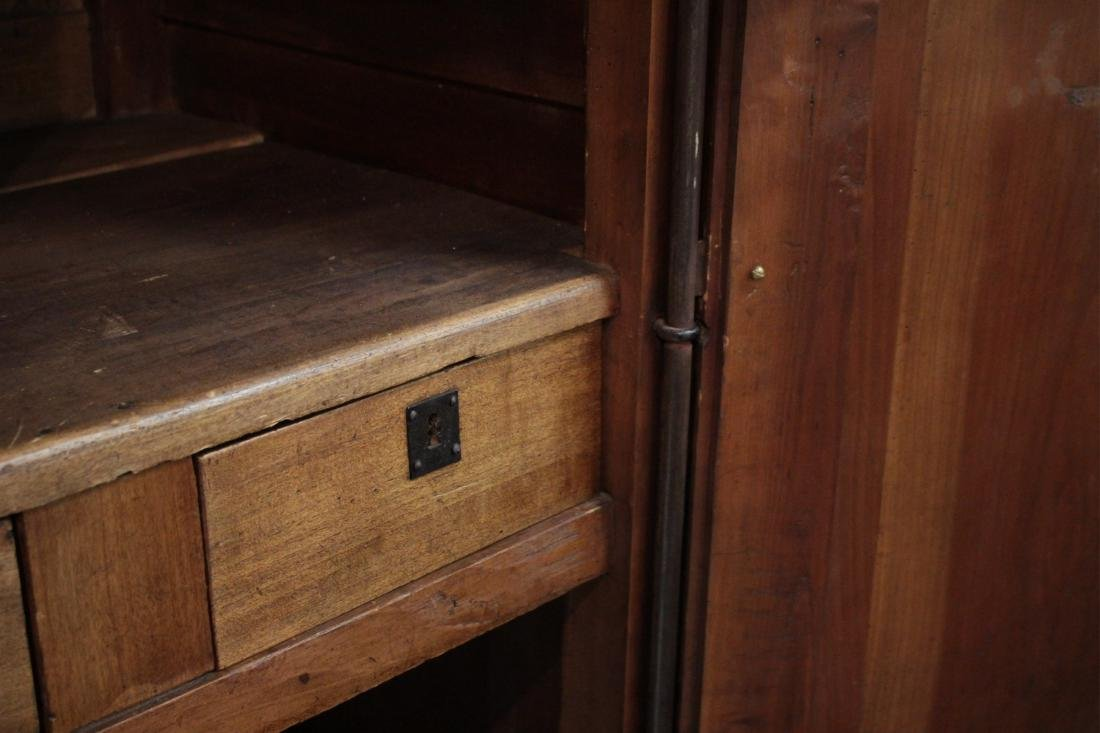 19th c. French Provincial Cherry Armoire Cabinet - 5