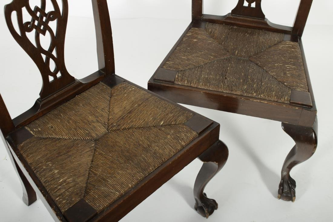 Pair of Mahogany Chippendale Style Side Chairs - 2