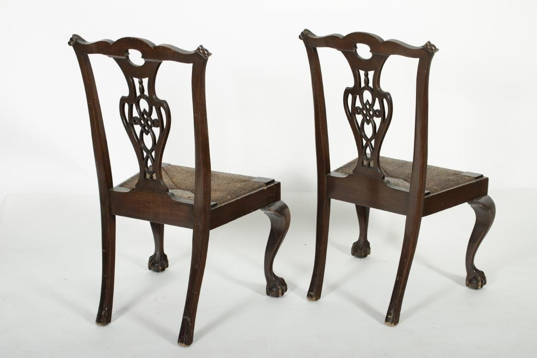 Pair of Mahogany Chippendale Style Side Chairs - 5
