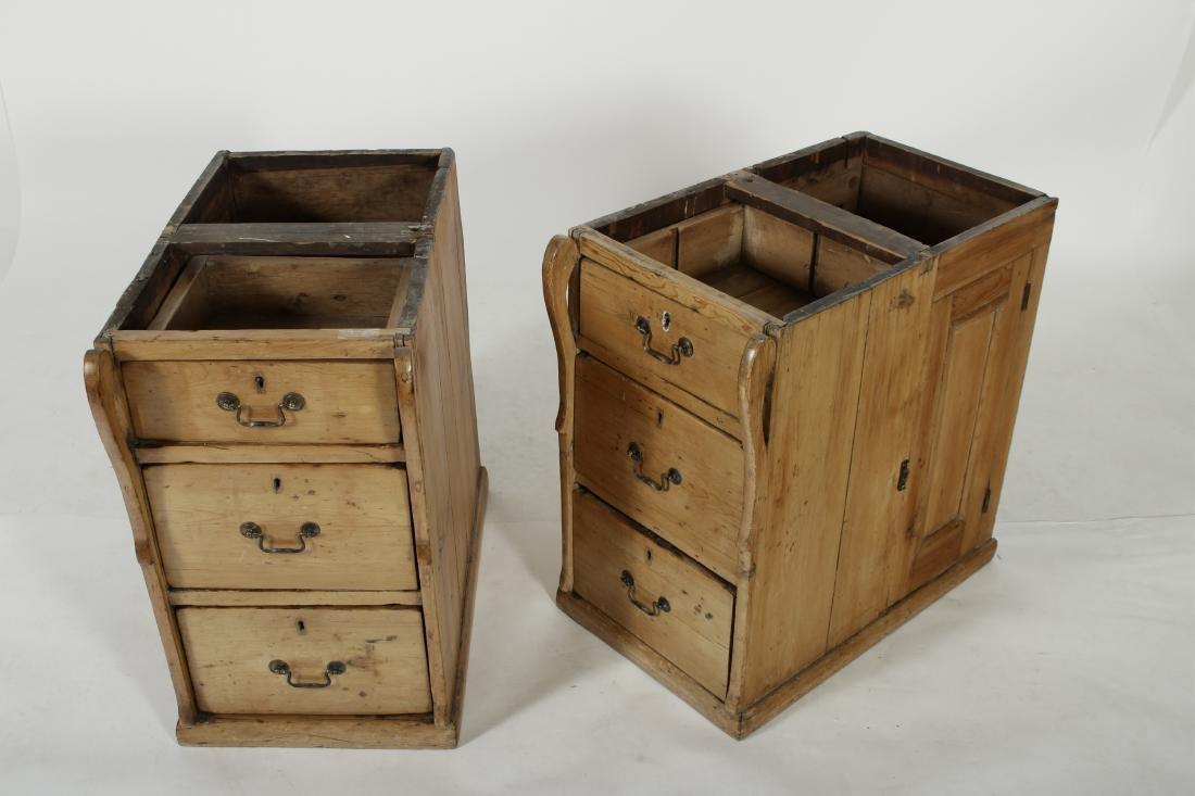 English Pine Secretary Slant Front Desk, 19th C. - 7