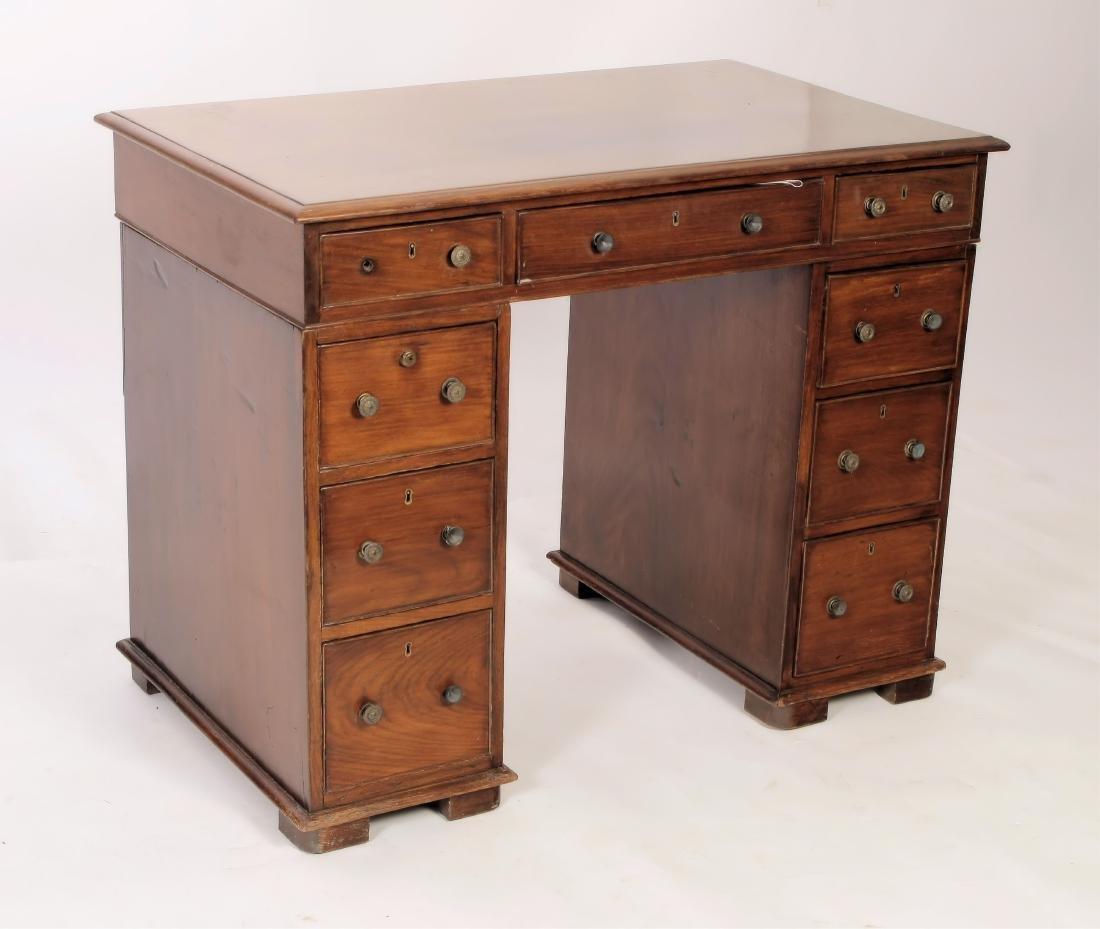 19th C. Rosewood Pedestal Desk - 2