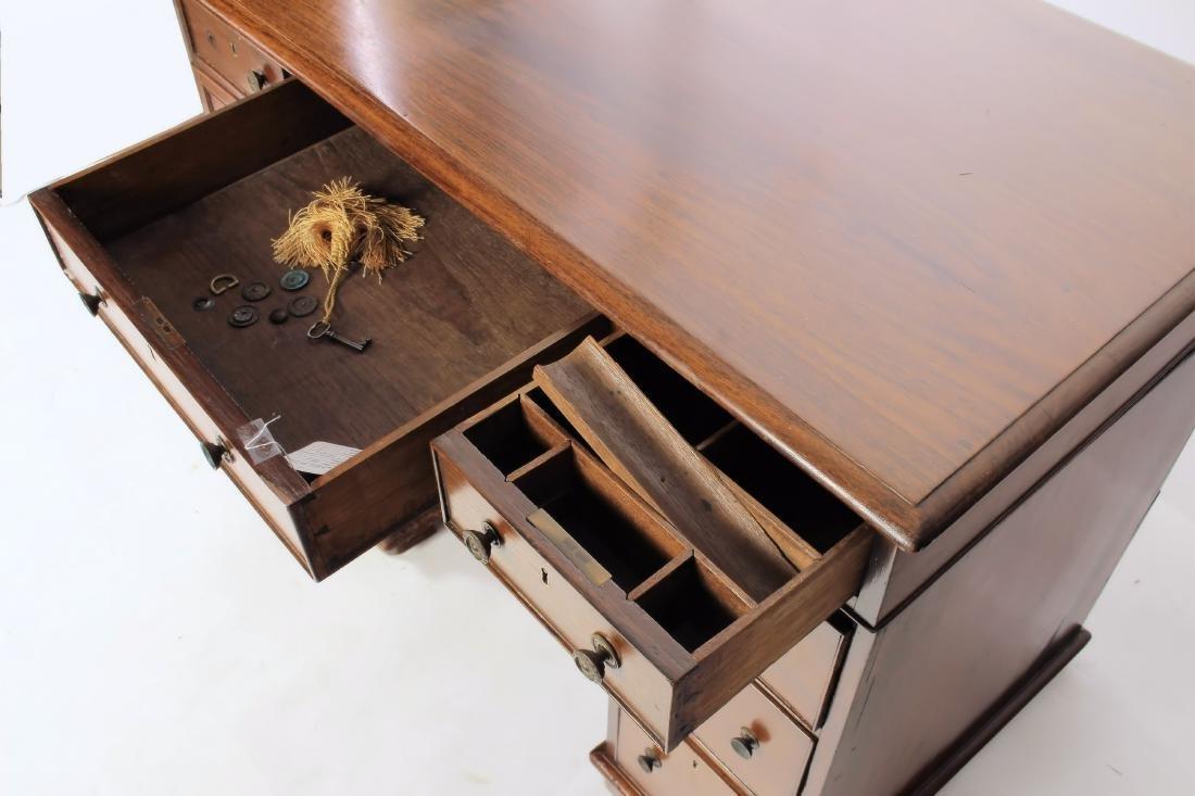 19th C. Rosewood Pedestal Desk - 3