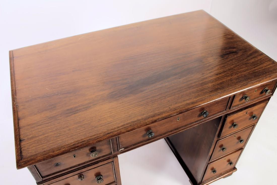 19th C. Rosewood Pedestal Desk - 4