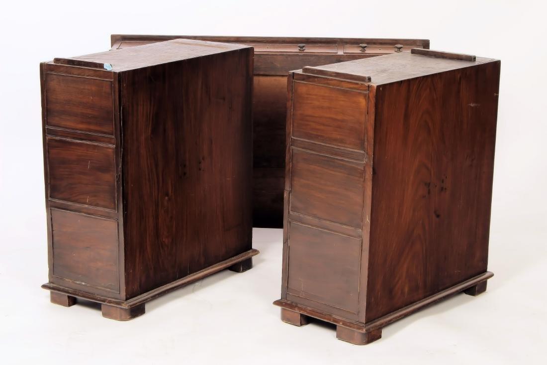 19th C. Rosewood Pedestal Desk - 5