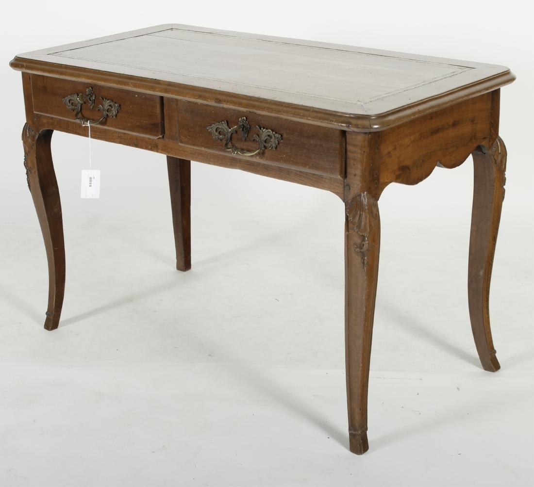 19th C. French Provincial Walnut Writing Desk